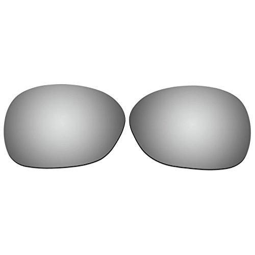 ACOMPATIBLE Ersatzgläser für Oakley Pulse Sonnenbrille oo9198, Titanium Mirror - Polarized