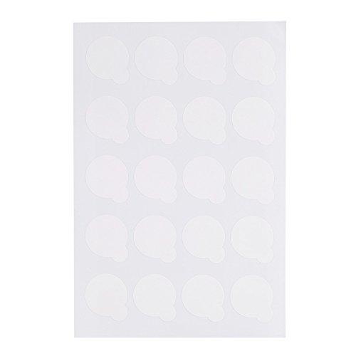 GLOGLOW 5 Feuilles Jetables Cils Colle Titulaire Professionnel Étanche Cils Extension Glue Titulaire Palette De Papier Pads Stand