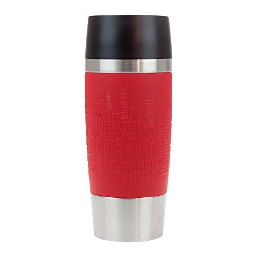 ener Gravur - EMSA - Rot - persönliches Geschenk für Fauen, Freundin und Mama - personalisierter Travel Mug mit Namen graviert (Rot Personalisierte Geschenke)