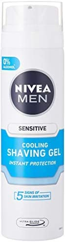 Nivea Men Sensitive Cooling Shaving Gel, 200 ml