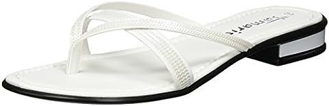 Tamaris Damen 27107 Offene Sandalen, Weiß (White 100), 39