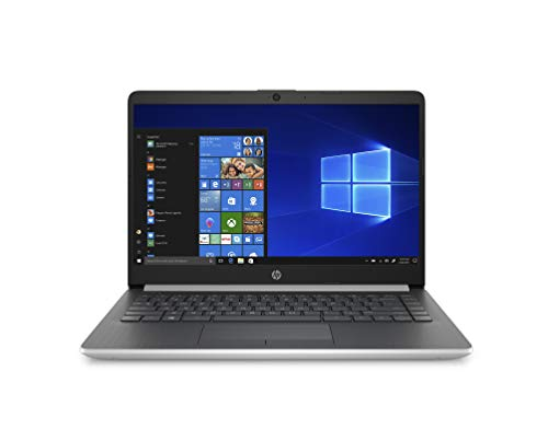 HP 14-DK0001NL Notebook, Windows 10 Home, Processore AMD Ryzen 3 3200U, RAM 8 GB, SSD da 256 GB, Display 14 FHD Antiriflesso, Argento Naturale