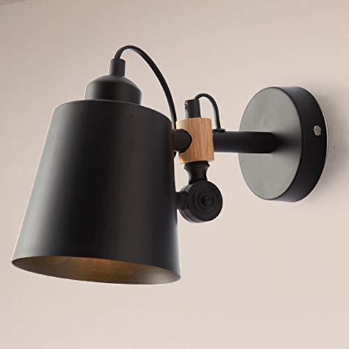 Preisvergleich Produktbild Schwarz und Weiß Zwei nordische moderne minimalistische Wandleuchte Optional Kreative Persönlichkeit LED Wandleuchte Schmiedeeisen Schlafzimmer Nachtgang Wohnzimmer Badezimmerspiegel Frontlicht Postmo