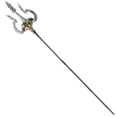 erdbeerclown - Dreizack, 126cm, Schwarz, Silber, (Er Ist Dynamit Kostüme)