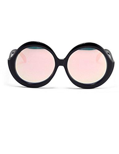 Schwarze Sonnenbrille Weibliche Gezeiten-Persönlichkeitsseiten-Sonnenbrille Großes Gestell-rundes Gesicht war dünne Sonnenbrille ( Farbe : 1 )