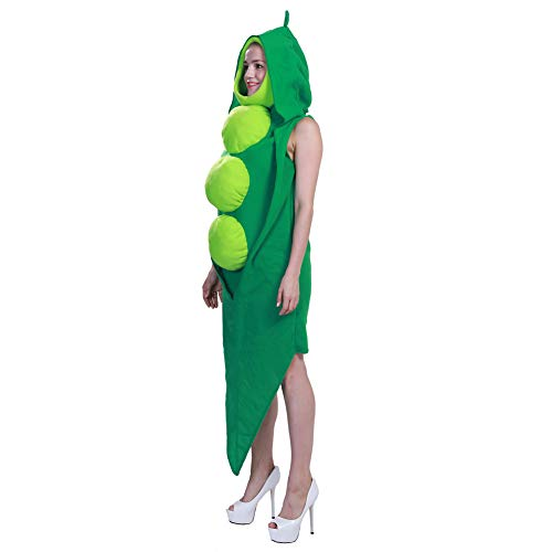 HSKS Siames-Kostüm, Erbsen, Festival, Party, Bühnenauftritt, Halloween, Rollenspiele (Grüne Erbse Kostüm)