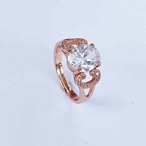 GFLD Ring einfache Mode Männer und Frauen Paar Ring Rotgold