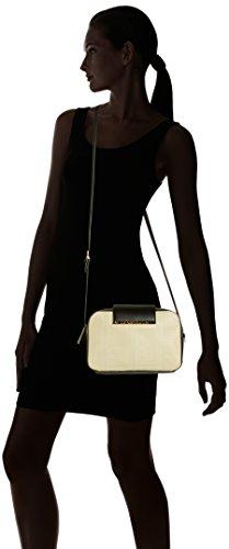 Cavalli  Shoulder bag Reptilia 001, Sac pour femme à porter à l'épaule Multicolore - Mehrfarbig (Offwhite/Black F03)