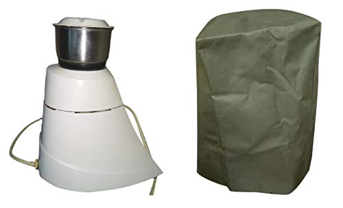 Mixer Grinder Cover for All Types of Mixies - Free Size Mixie Cover, Green Color, 3 Layer Stitching