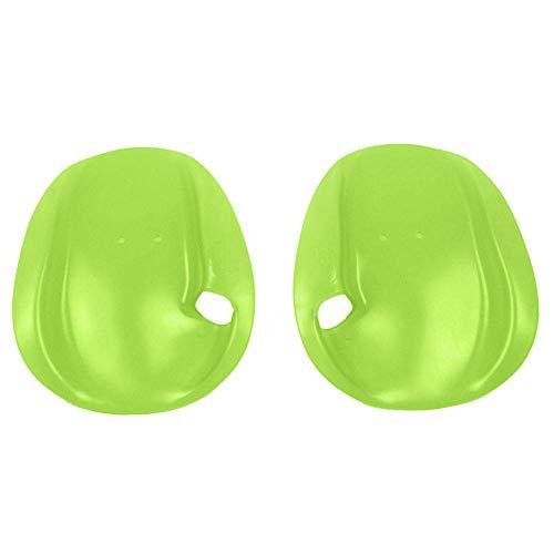 Akeny 1 Paar Hand Paddel Schwimm Gewebter Tauchen Handschuhe für Training Schwimmen Tauchen - Grün, M