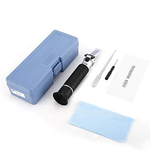 Handheld Refraktometer 0-80% Optischer Alkohol Alkohol und Spirituosen Wiskey Vodka Inhalt Meter Mini ATC Mess Tester