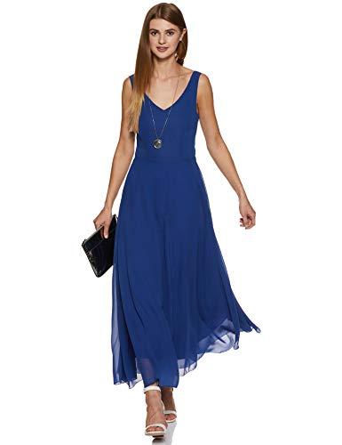 Harpa Women's Skater Dress (GR2766_Royal Blue_Small)