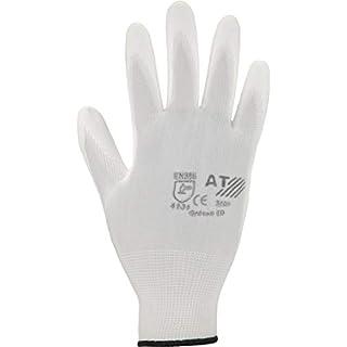 Asatex 3700 8 70 Feinstrick-Handschuhe mit PU-Beschichtung Größe 8 in weiß