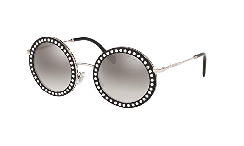 Miu Miu 59US SOLE Damen Sonnenbrille, Schwarz 48