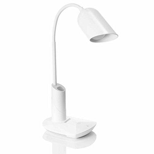 Lampada de tavolo led,hargitech touch control dimmerabile 2w protezione occhi a 360 ° testa regolabile a braccio illuminazione interna per esterni risparmio energetico camera da letto a mutifunzione lettura luci di sonno