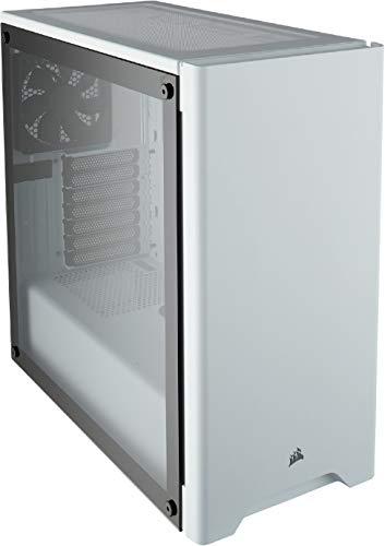 Corsair Carbide 275R Case da Gaming, Mid-Tower ATX in Vetro Temprato, Bianco