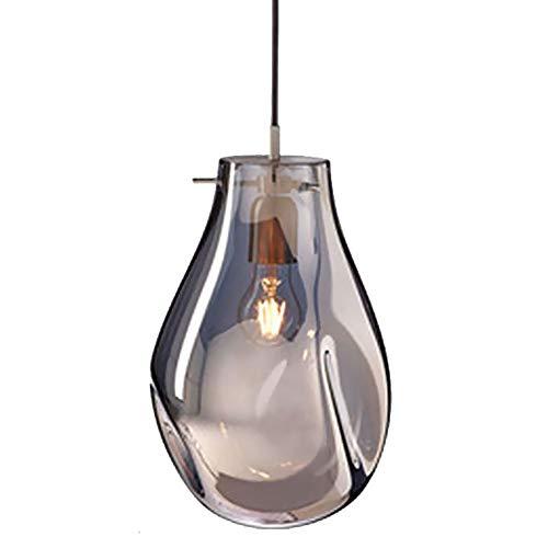 Preisvergleich Produktbild XKHG Pendelleuchte, Kronleuchter Glas,  E27 Modern Silber Glaslampenschirm Metall Hängende Deckenleuchte für Wohnzimmer Schlafzimmer küche Restaurant Indoor