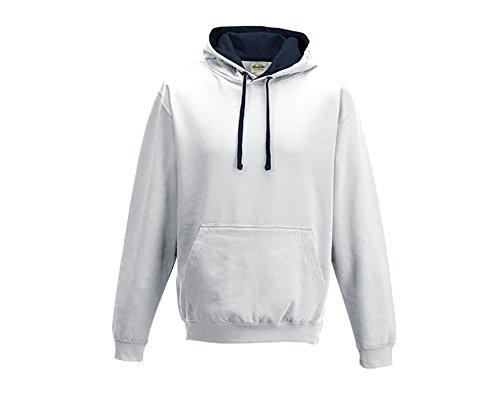 Varsity sweat-shirt à capuche à capuche pull-over à capuche unisexe coloré - Arctic weiß French Navy