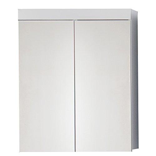 #trendteam smart living Badezimmer Spiegelschrank Spiegel Amanda, 60 x 77 x 17 cm in Weiß Hochglanz ohne Beleuchtung#