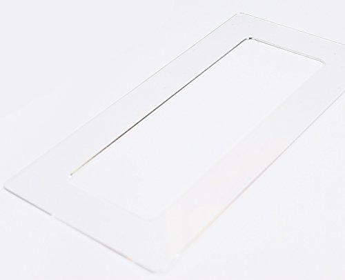 Acrylglas Dekorrahmen klar 1-fach 2-fach 3-fach 4-fach, beidseitig benutzbar glänzend oder entspiegelt, Tapetenschutz Wandschutz für Lichtschalter und Steckdosen (antireflex 3-fach)