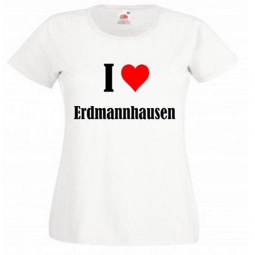 """T-Shirt """"I Love Erdmannhausen"""" für Damen Herren und Kinder ... in der Farben Schwarz Weiss und Pink Rosa Weiß"""