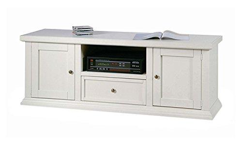 Legno&Design Meuble TV TV Banc 2 Portes 1 tiroir en Bois Art pauvre