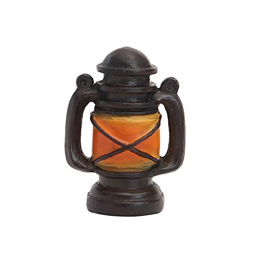 WopenJucy Lampe à kérosène en résine pour aménagement paysager Noir et jaune 6 x 4,5 x 3 cm, Résine, noir/jaune, 6cm*4.5cm*3cm