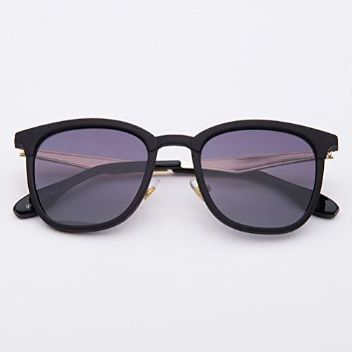 YRE Kinder polarisierte Sonnenbrille, stilvolle Persönlichkeit Harz Box Baby Farbe Sonnenbrille, Junge Mädchen Schatten Spiegel,Black