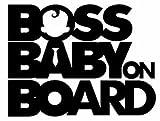 myrockshirt® Aufkleber Boss Baby on Board 17 cm Autoaufkleber Auto Sticker Lack Heckscheibe Baby Bord aus Hochleistungsfolie ohne Hintergrund Profi-Qualität viele Farben zur Auswahl MADE IN GERMANY
