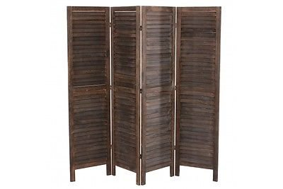 Massivholz Raumteiler (Paravent massivholz braun 170x182x2 cm Trennwand Raumteiler used look Paravant)