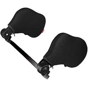 Echoice Auto Kissen Auto Hals Kissen Nackenstütze Autositz Kopfstütze Kissen Unterstützung auf beiden Seiten Nackenkissen mit hohem elastischen Nylon geeignet für Erwachsene und Kinder (schwarz)