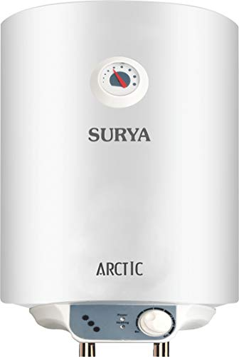 Surya Arctic Metal Body 25 L Geyser with 4 Star Rating (White, Standard size)