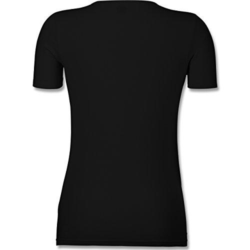 Geburtstag - Echte Kerle Werden IM April Geboren - Tailliertes T-Shirt mit V-Ausschnitt für Frauen Schwarz