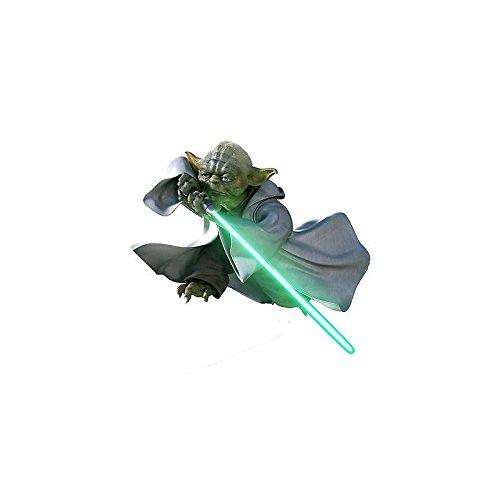 a5abd5ef7c102 Stickers enfant Yoda Stars Wars (de 10cm à 130cm de largeur) - Largeur 130cm