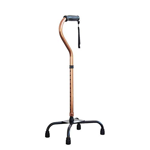 ZUCAI Praktikabilität Gehstock Zuckerrohr 11 höhenverstellbare horizontale Fluss Zuckerrohr Männer und Frauen ältere Menschen 4 Beine rutschfeste Basis Gute Qualität -