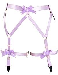 2168f1fee Women Sexy Strap Garter Belt Waist Leg Cage Stockings Suspender Lingerie  Purple