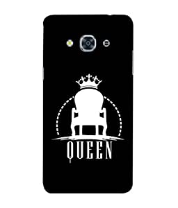 GalaxyJ3Pro(2017) Back Cover White Shade Queen Chair Design From FUSON