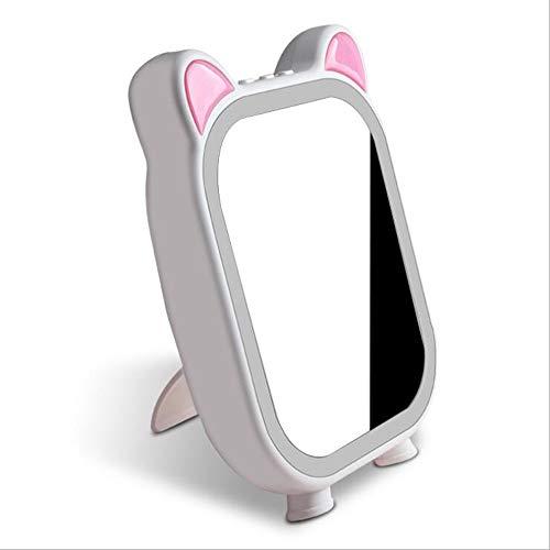 Miroir de maquillage XIAHE De Lampe De Bureau Créatif Chargeant Le De Musique Bluetooth Miroir De Cadeau Créatif Miroir Pliant Multifonctionnel (Couleur : Blanc)