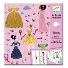 und Sticker Dresses Through the Season Papierpuppen ()