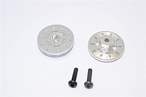 Traxxas Latrax Rally Upgrade Pièces Aluminium Brake Disk Hex Adapter (+3mm) - 2 Pcs Set Silver