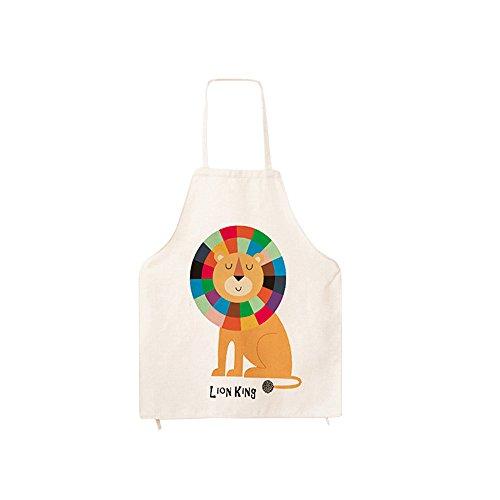 Bellissimi grembiuli in tela di cotone con disegni, grembiule da cucina, da forno, da chef, ideale come regalo, Cotone, Da bambini