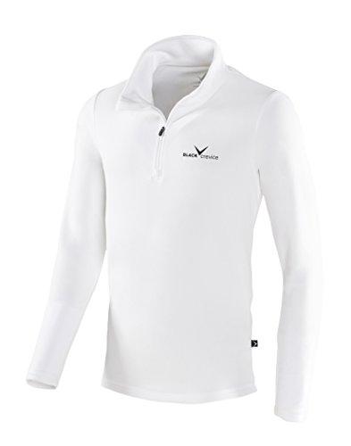 Black Crevice Herren Fleece-Funktionsrolli, Weiß (White - White / black), M (Herstellergröße: 50)