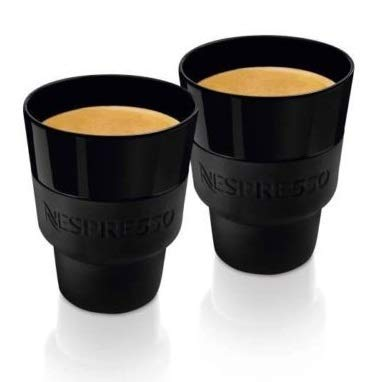 NESPRESSO 2 touchlungo Tassen (170 ml) schwarz Porzellan & Soft-Touch Silikon, in Box, by Berlin Design Studio geckeler Michels, NEU