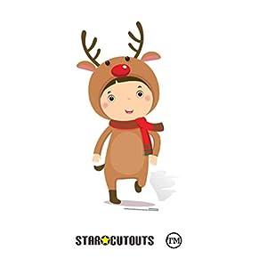 Star Cutouts Ltd SC987 - Figura decorativa (cartón, 92 cm), diseño de reno, multicolor
