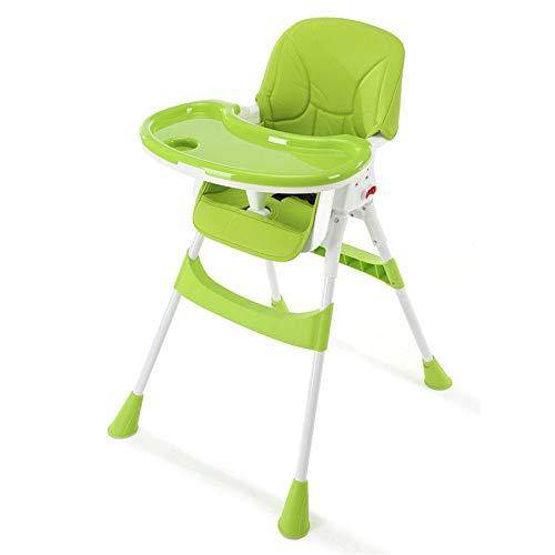 Baby-Zusatzsitz 3 in 1 Baby faltbare Kleinkind Kind Kinder Infant Recliner verstellbare Sitz Stuhl Hochstuhl Fütterung Speisestuhl-Fütterungsstuhl-Mädchen-Junge ( Farbe : Grün , Größe : 56*41*127cm ) (Kleinkind-mädchen-recliner-stuhl)