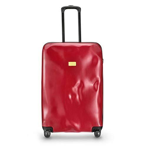 GJF Hard Case Trolley PC Koffer Leichte Trolley Carry On Hand Handgepäck Reisetasche mit TSA Schloss und 4 Spinner Räder, für Reisen Männer Frauen 20/24/28 Zoll-red-20inches -