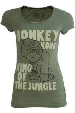 Collector's Girlie T-Shirt Nintendo Donkey Kong King of the Jungle
