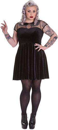 Spin Doctor NINA Vintage TULLE Velvet Samt Skull Collar DRESS Kleid Plus Size (Plus Size Punk Kleid)