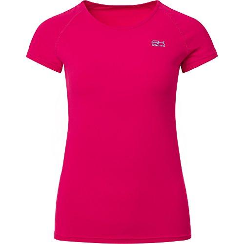 Sportkind Mädchen & Damen Tennis/Fitness/Sport T-Shirt, pink, Gr. 116