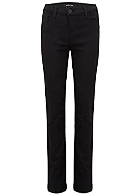 J Brand - Maria High Rise Straight Leg Jeans - Seriously Black, S BLACK